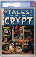 Golden Age (1938-1955):Horror, Tales From the Crypt #27 Gaines File pedigree 2/12 (EC, 1951) CGCNM+ 9.6 Off-white to white pages. A guillotine cover by Wa...