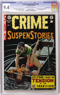 Golden Age (1938-1955):Crime, Crime SuspenStories #23 Gaines File pedigree 2/12 (EC, 1954) CGC NM 9.4 Off-white to white pages. This is just the second ti...