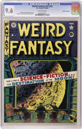 Golden Age (1938-1955):Science Fiction, Weird Fantasy #15 (#3) Gaines File pedigree 3/11 (EC, 1950) CGC NM+9.6 Off-white pages. Take a trip in Outer Space, courtes...