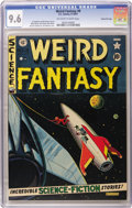 Golden Age (1938-1955):Science Fiction, Weird Fantasy #9 Gaines File pedigree 8/11 (EC, 1951) CGC NM+ 9.6Off-white to white pages. Al Feldstein is responsible for ...
