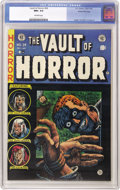 "Golden Age (1938-1955):Horror, Vault of Horror #34 Gaines File pedigree (EC, 1954) CGC NM+ 9.6Off-white pages. Johnny Craig's ""point of view"" cover illust..."