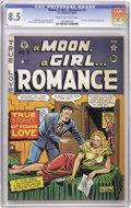 Golden Age (1938-1955):Romance, A Moon, A Girl...Romance #9 (EC, 1949) CGC VF+ 8.5 Cream tooff-white pages. The first issue of this rather odd title contin...