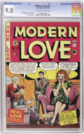 Golden Age (1938-1955):Romance, Modern Love #3 (EC, 1949) CGC VF/NM 9.0 Off-white to white pages.We've only offered this issue on three previous occasions,...