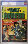 Golden Age (1938-1955):Horror, Vault of Horror #14 Gaines File pedigree 4/9 (EC, 1950) CGC NM 9.4White pages. Cover artist Johnny Craig uses bright, prett...