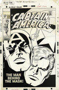 Original Comic Art:Covers, John Romita Sr. - Captain America #114 Cover and Color Guide Original Art (Marvel, 1968). One of the most recognized and spe...