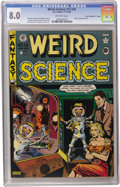 "Golden Age (1938-1955):Science Fiction, Weird Science #15 (#4) Davis Crippen (""D"" Copy) pedigree (EC, 1950)CGC VF 8.0 Off-white pages. Al Feldstein supplied this i..."