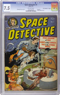 """Golden Age (1938-1955):Science Fiction, Space Detective #1 Davis Crippen (""""D"""" Copy) pedigree (Avon, 1951)CGC VF- 7.5 Off-white pages. """"Space sexy"""" as you like it o..."""