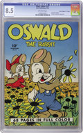"Golden Age (1938-1955):Funny Animal, Four Color #21 Oswald the Rabbit Davis Crippen (""D"" Copy) pedigree(Dell, 1943) CGC VF+ 8.5 Off-white pages. This early Walt..."