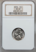 Jefferson Nickels: , 1939 5C Reverse of 1938 MS67 NGC. NGC Census: (390/2). PCGSPopulation (39/0). Mintage: 120,627,536. Numismedia Wsl. Price ...