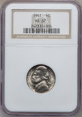 Jefferson Nickels: , 1941 5C MS67 NGC. NGC Census: (186/2). PCGS Population (9/0).Mintage: 203,283,712. Numismedia Wsl. Price for problem free ...