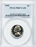 Proof Jefferson Nickels: , 1955 5C PR67 Cameo PCGS. PCGS Population (292/177). NGC Census:(147/390). Numismedia Wsl. Price for problem free NGC/PCGS...