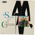 """Music Memorabilia:Recordings, """"In Style With the Crickets"""" LP (Coral 57320, 1960). We love thestyle of this album cover, including the unusual textured e...(Total: 1 Item)"""