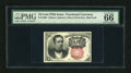 Fractional Currency:Fifth Issue, Fr. 1266 10c Fifth Issue PMG Gem Uncirculated 66. A virtuallysuperb example of this short key Meredith variety that has bri...