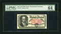 Fractional Currency:Fifth Issue, Fr. 1381 50c Fifth Issue PMG Choice Uncirculated 64. A spectacularCrawford note which appears to be a screaming gem from th...
