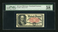 Fractional Currency:Fifth Issue, Fr. 1381 50c Fifth Issue PMG Choice About Unc 58. Simply awonderful example of this Crawford note that has exceptionalpape...