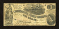 Confederate Notes:1862 Issues, T44 $1 1862. Even circulation is found on this Very Good $1....