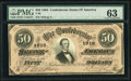 Confederate Notes:1864 Issues, T66 $50 1864. This is a quality example. PMG Choice Uncirculated 63....
