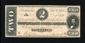 Confederate Notes:1864 Issues, T70 $2 1864. Just light handling on this Deuce. About Uncirculated....