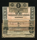 Confederate Notes:Group Lots, High-grade 1864 Starter set, with a Havana Counterfeit includingCT-65 CU, T66 CU, T67 CU, T68 AU, T69 CU,... (Total: 8 notes)