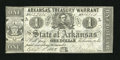 Obsoletes By State:Arkansas, (Little Rock), AR- State of Arkansas $1 Apr. 4, 1862 Criswell 33. This $1 is printed on the back of bills of exchange with a...