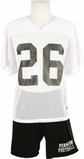"Movie/TV Memorabilia:Costumes, ""Friday Night Lights"" Garrett Hedlund's Costume Football Uniform. A white mesh football practice shirt and black shorts worn... (Total: 1 Item)"