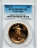 Modern Bullion Coins, 2002-W G$50 One-Ounce Gold Eagle PR70 Deep Cameo PCGS. PCGSPopulation (170). NGC Census: (645). Numismedia Wsl. Price for...