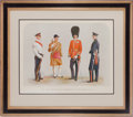 "Militaria:Ephemera, ""The First or Grenadier Regiment of Foot Guards, 1914""Print...."