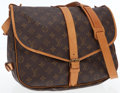Luxury Accessories:Bags, Louis Vuitton Classic Monogram Canvas Saumur 35cm Shoulder Bag. ...