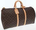 Luxury Accessories:Bags, Louis Vuitton Classic Monogram Canvas Keepall 55cm WeekenderOvernight Bag. ...