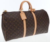 Louis Vuitton Classic Monogram Canvas Keepall 55cm Weekender Overnight Bag
