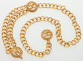 Luxury Accessories:Accessories, Chanel Gold Chain Belt with CC Pendants. ...