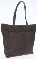 Luxury Accessories:Bags, Carlos Falchi Gray Python Large Tote Bag. ...