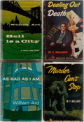 Books:Mystery & Detective Fiction, [Mystery]. W. T. Ballard and William Ard. Group of Four FirstEdition, First Printing Books. Various publishers. Very good....(Total: 4 Items)