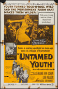 """Movie Posters:Exploitation, Untamed Youth (Warner Brothers, 1957). One Sheet (27"""" X 41"""") & Lobby Card Set of 8 ) (11"""" X 14""""). Exploitation.. ... (Total: 9 Items)"""