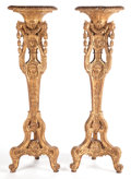 Decorative Arts, French:Other , A PAIR OF LOUIS XV-STYLE GILT WOOD STANDS. France, circa 1880. 61inches high (154.9 cm). ... (Total: 2 Items)