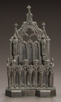 Decorative Arts, Continental:Other , A CONTINENTAL GOTHIC REVIVAL CAST METAL LETTER HOLDER. Circa 1850.9-3/4 x 5-1/4 x 2-3/4 inches (24.8 x 13.3 x 7.0 cm). Pr...