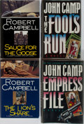 Books:Mystery & Detective Fiction, [Mystery]. John Camp and Robert Campbell. Group of Four FirstEdition, First Printing Books. Various publishers. Very good o...(Total: 4 Items)