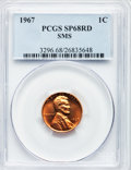 SMS Lincoln Cents, 1967 1C SMS SP68 Red PCGS. PCGS Population (77/0). Mintage:1,860,000. Numismedia Wsl. Price for problem...