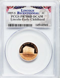 Proof Lincoln Cents, 2009-S 1C Bicentennial Lincoln Early Childhood PR70 Red Deep Cameo PCGS. PCGS Population (352). NGC Census: (1888). Numism...
