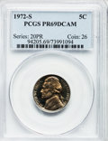 Proof Jefferson Nickels: , 1972-S 5C PR69 Deep Cameo PCGS. PCGS Population (177/0). NGCCensus: (128/0). Numismedia Wsl. Price for problem free NGC/P...