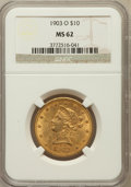 Liberty Eagles: , 1903-O $10 MS62 NGC. NGC Census: (297/77). PCGS Population(324/128). Mintage: 112,771. Numismedia Wsl. Price for problem f...