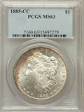 Morgan Dollars: , 1885-CC $1 MS63 PCGS. PCGS Population (4601/12125). NGC Census:(2294/5906). Mintage: 228,000. Numismedia Wsl. Price for pr...