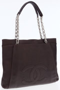 Luxury Accessories:Bags, Chanel Brown Caviar Leather Shoulder Bag with Silver Hardware. ...