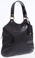 Luxury Accessories:Bags, Yves Saint Laurent Black Patent Leather Tribute Tote. ...