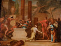 Fine Art - Painting, European:Antique  (Pre 1900), CONTINENTAL SCHOOL (Early 18th Century). Mythological Scene of aTomb in a Landscape with Classical Ruins, circa 1700. O...