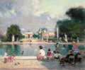 Paintings, JULES RENÉ HERVÉ (French, 1887-1981). Grand Basin, Jardin des Tuileries. Oil on canvas. 23-1/2 x 28-1/2 inches (59.7 x 7...
