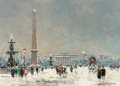 Paintings, ANTOINE BLANCHARD (French, 1910-1988). Place de la Concorde, Paris. Oil on canvas. 13 x 18 inches (33.0 x 45.7 cm). Sign...