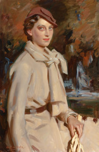 WILFRED GABRIEL DE GLEHN (British, 1870-1951) Jane Austen, Autumn, circa 1934 Oil on canvas 36 x