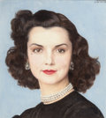 Paintings, BERNARD BOUTET DE MONVEL (French, 1881-1949). Portrait of Brenda Frazier. Oil and pencil on canvas. 14 x 13 inches (35.6...