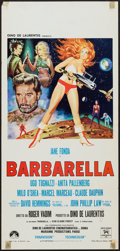 "Movie Posters:Science Fiction, Barbarella (Paramount, 1968). Italian Locandina (13"" X 27"").Science Fiction.. ..."